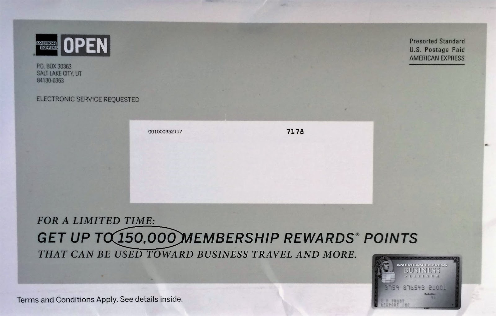 Flying From The Front: AMEX Business Platinum Card 150K sign up ...