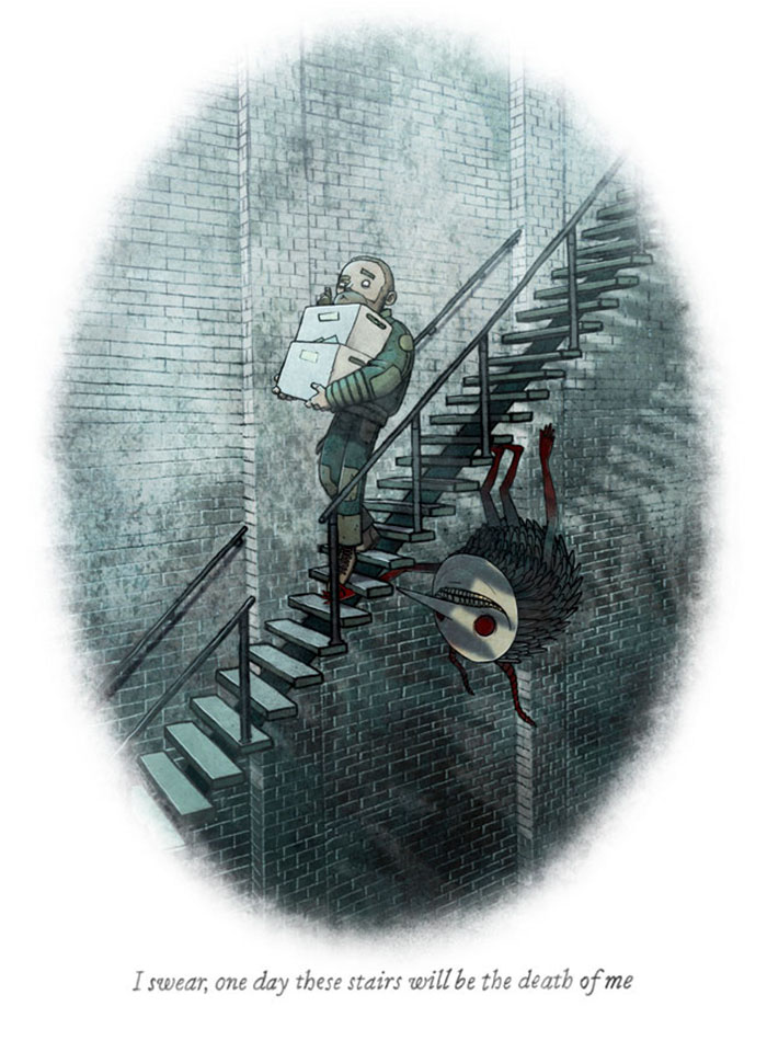 30 Creepy One-Picture Horror Stories Made By Irish Illustrator