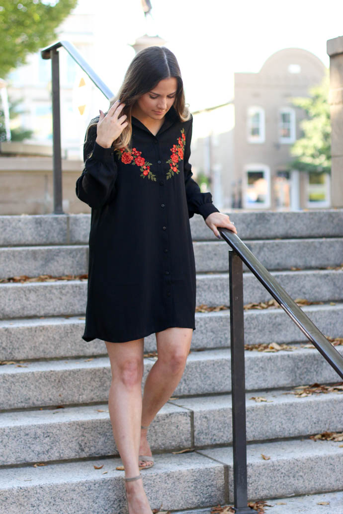 embroidered dress for fall