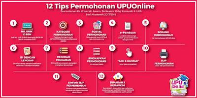 Panduan Permohonan UPU Online Untuk Universiti Awam dan Politeknik
