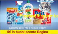 Logo Promozione ''Il pulito è di casa '': 5 euro in buoni sconto premio sicuro