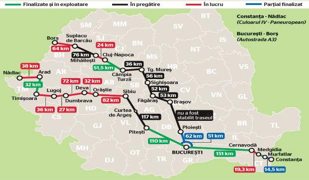 Harta Autostrazilor Din Romania