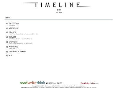 Timeline app página detalles línea de tiempo app