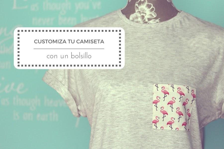 Customiza una camiseta con un bolsillo - Punto de Lu