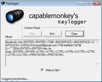 Email Keylogger Github