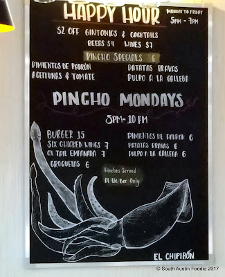 El Chipiron bar menu