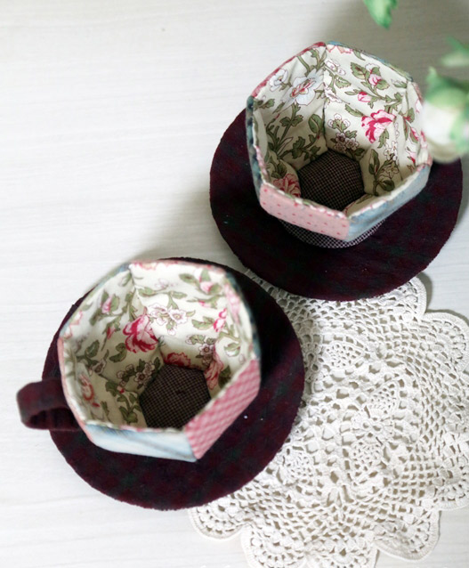How to sew a Patchwork Teapot and Cups. DIY step-by-step tutorial. Souvenir, gift box.
