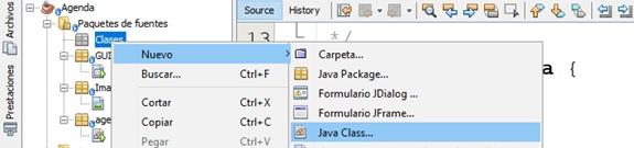 Como crear un paquete en Java NetBeans
