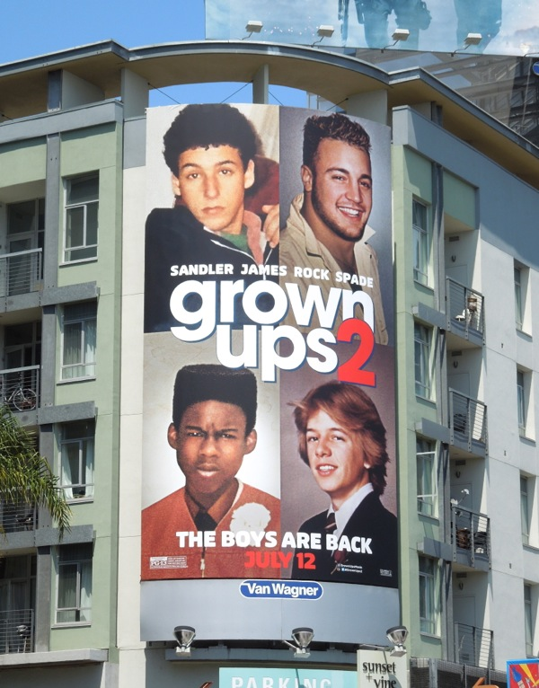 Grown Ups 2 film billboard