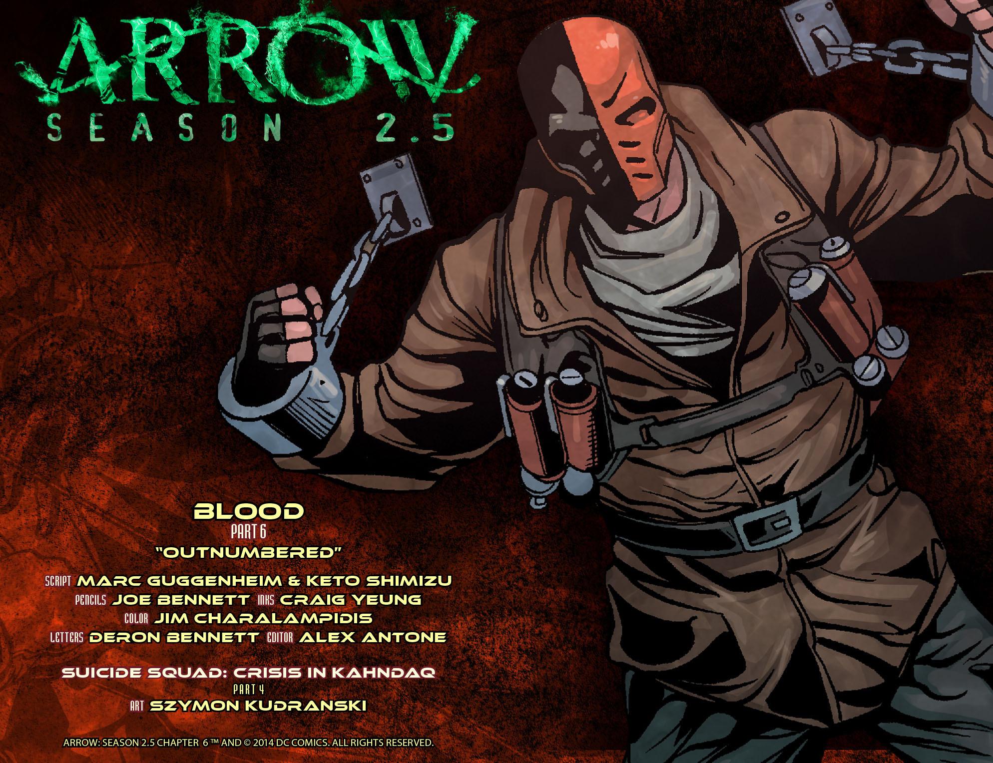 Read online Arrow: Season 2.5 [I] comic -  Issue #6 - 2
