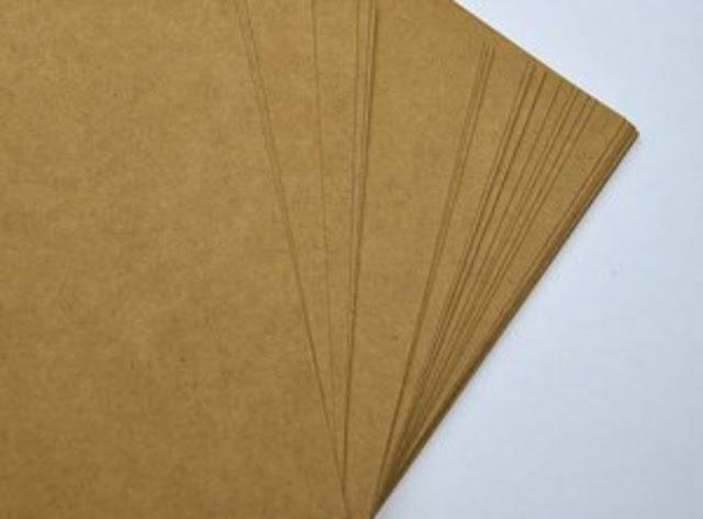 giấy kraft vàng dủng để in túi giấy