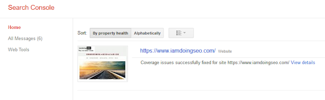 Search Console of Iamdoingseo