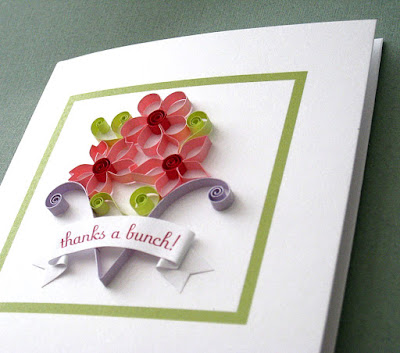 Quilled Thank You Card by Cecelia Louie