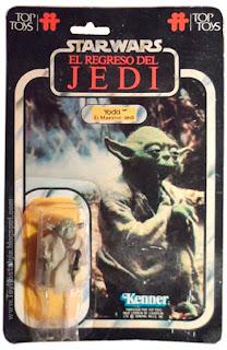 Yoda el Maestro Jedi TOP TOYS card - El Regreso del Jedi - Argentina