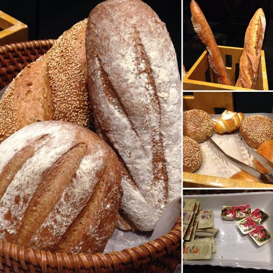 Bread station at Flavors Restaurant in Holiday Inn Makati