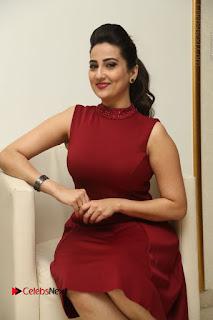 Telugu Tollywood Anchor Manjusha Pos in Red Short Dress  0073.JPG