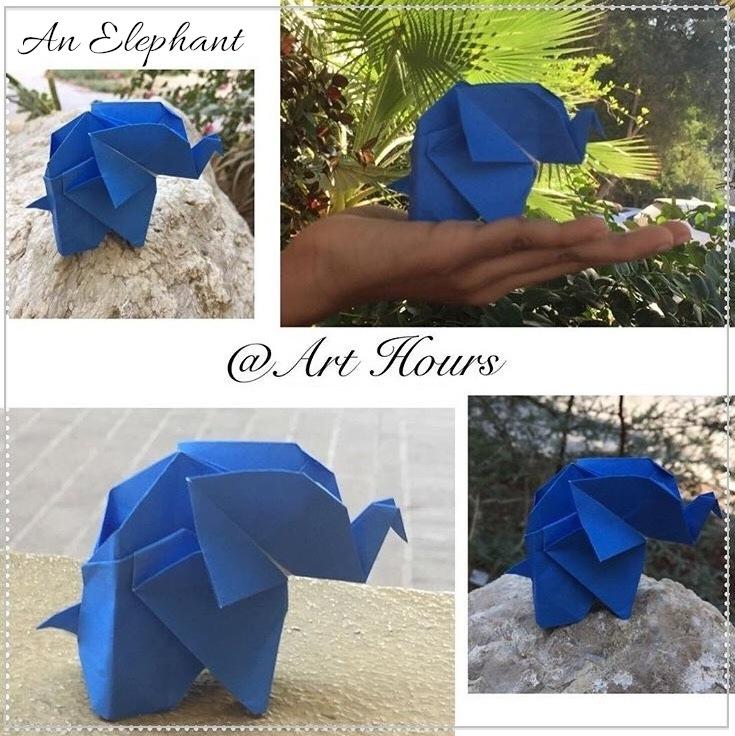 Pop Up Karten basteln mit Papier: Elefant - DIY Geschenk ... | 736x735