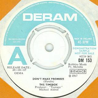 The UK promotional single. Deram DM 153.