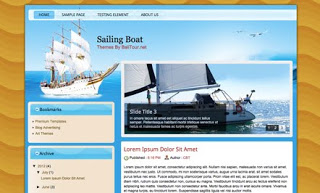 Sailing Boat Blogger Template