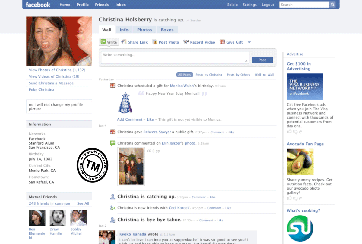 My Old Face Book Account