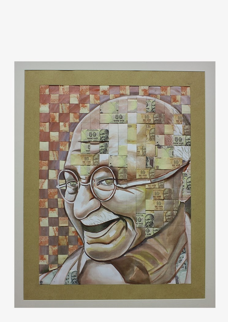 Gandhi by Anthony Joseph, Art Scene India, Image courtesy artist
