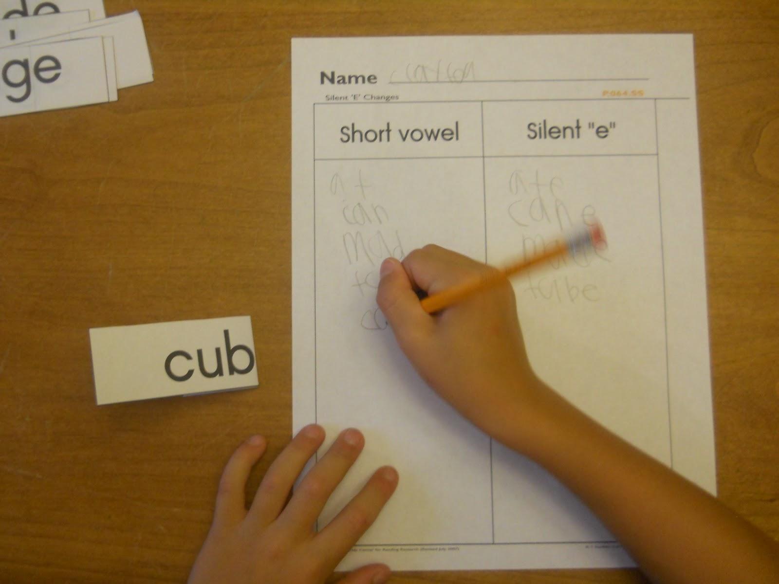 Mrs T S First Grade Class Silent E Flip Cards
