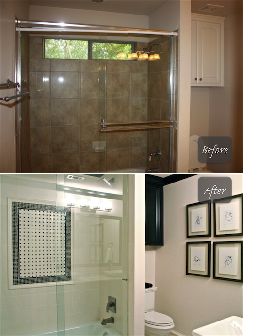 Black N White Bathroom: Classic With A Twist: Client Project: NY NY Vs. The Black