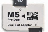 Memory Stick menggunakan Micro SD