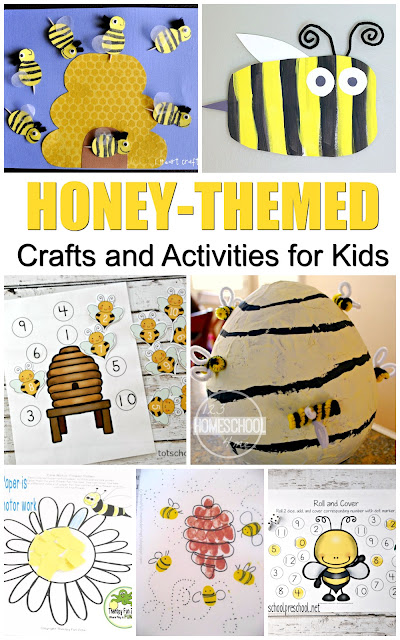 20+ Honeybee activities and crafts for National Honey Month this September or as summer crafts or spring crafts for toddler, preschool, prek, kindergarten, first grade, 2nd grade