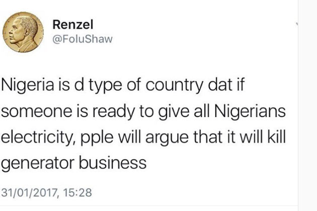 Lol. How is this true about Nigeria?