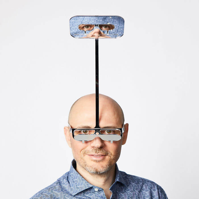 Guy Invents The 'One Foot Taller Periscope Glasses' That Allow Short People To See The World From Above