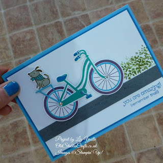 Blue Bike Ride Card