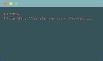 Mengunggah ke transfer.sh menggunakan HTTPie
