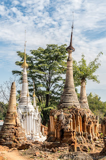 Stupas Indein - Lac Inle