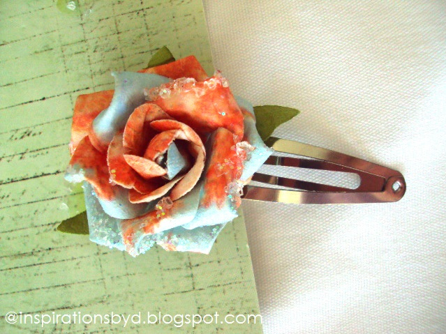 How to Make Scrapbook Paper Flower Hair Pin & Push Pin