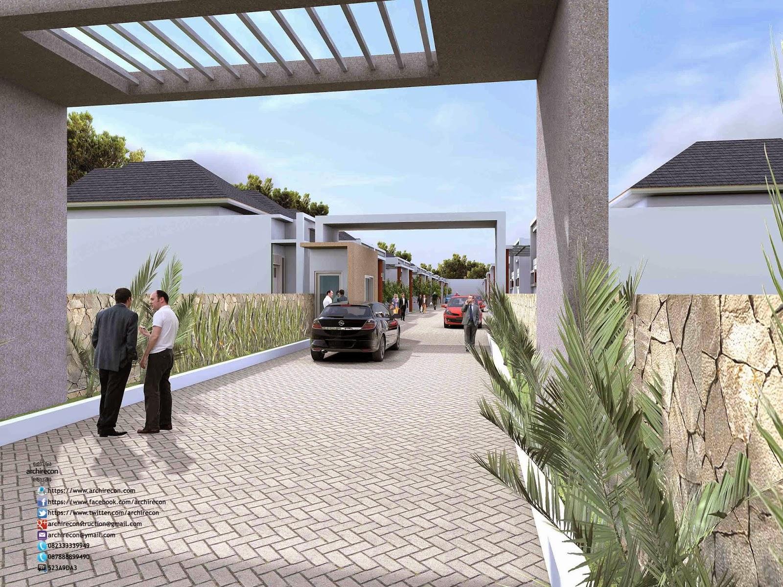Desain Rumah Minimalis Perumahan Griya Mas Sidoarjo - Pintu Gerbang 2