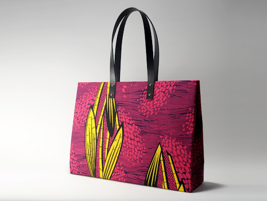 African Wax Print Shopper XL
