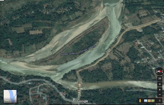 Google Map: Pertemuan Sungai Saddang dan Sungai Mata-Allo Kab. Enrekang (Tahun 2016)