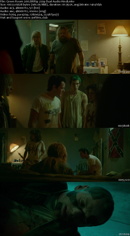 Green Room 2015 BRRip 720p Dual Audio Hindi 900MB