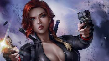 Black Widow, Guns, 4K, #4.237