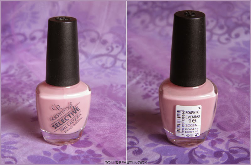 golden rose selective nail polish romantic evening