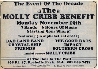 The Molly Crib benefit show to help raise money to replace their equipment that was broken up at an event