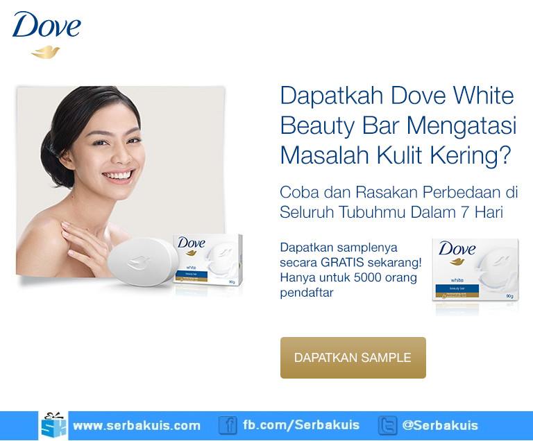 Sample Gratis 5000 Produk Dove White Beauty Bar