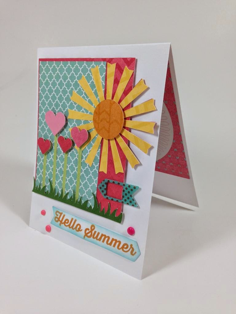 Cricut Artbooking Hello Summer Card sideview