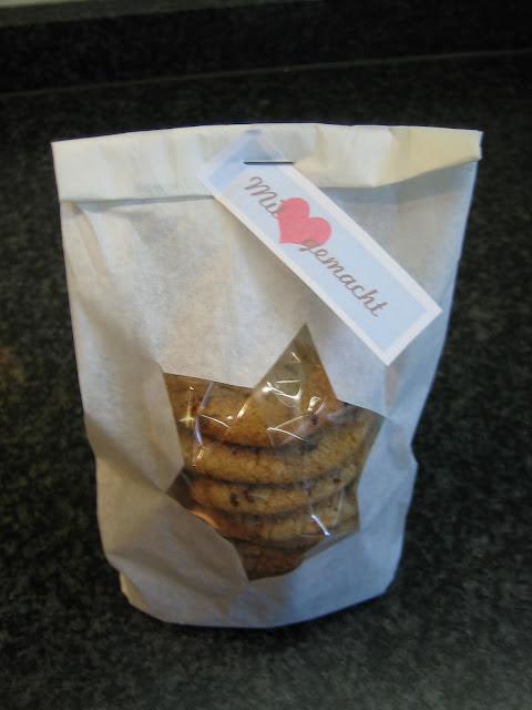 Verpackung selber machen für Cookies