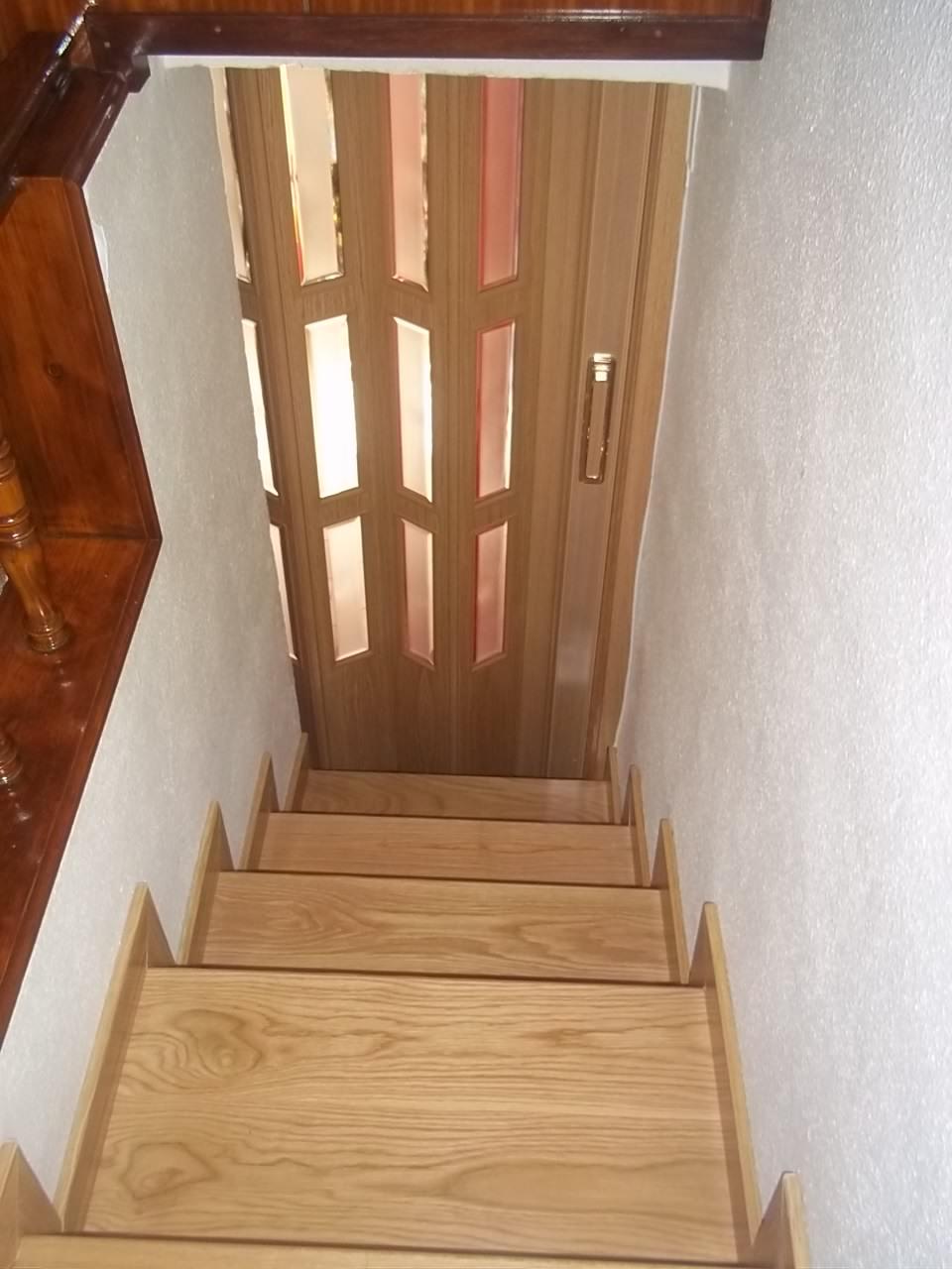 Carpinteria viosca roda puerta plegable con caseton - Puertas de escalera ...