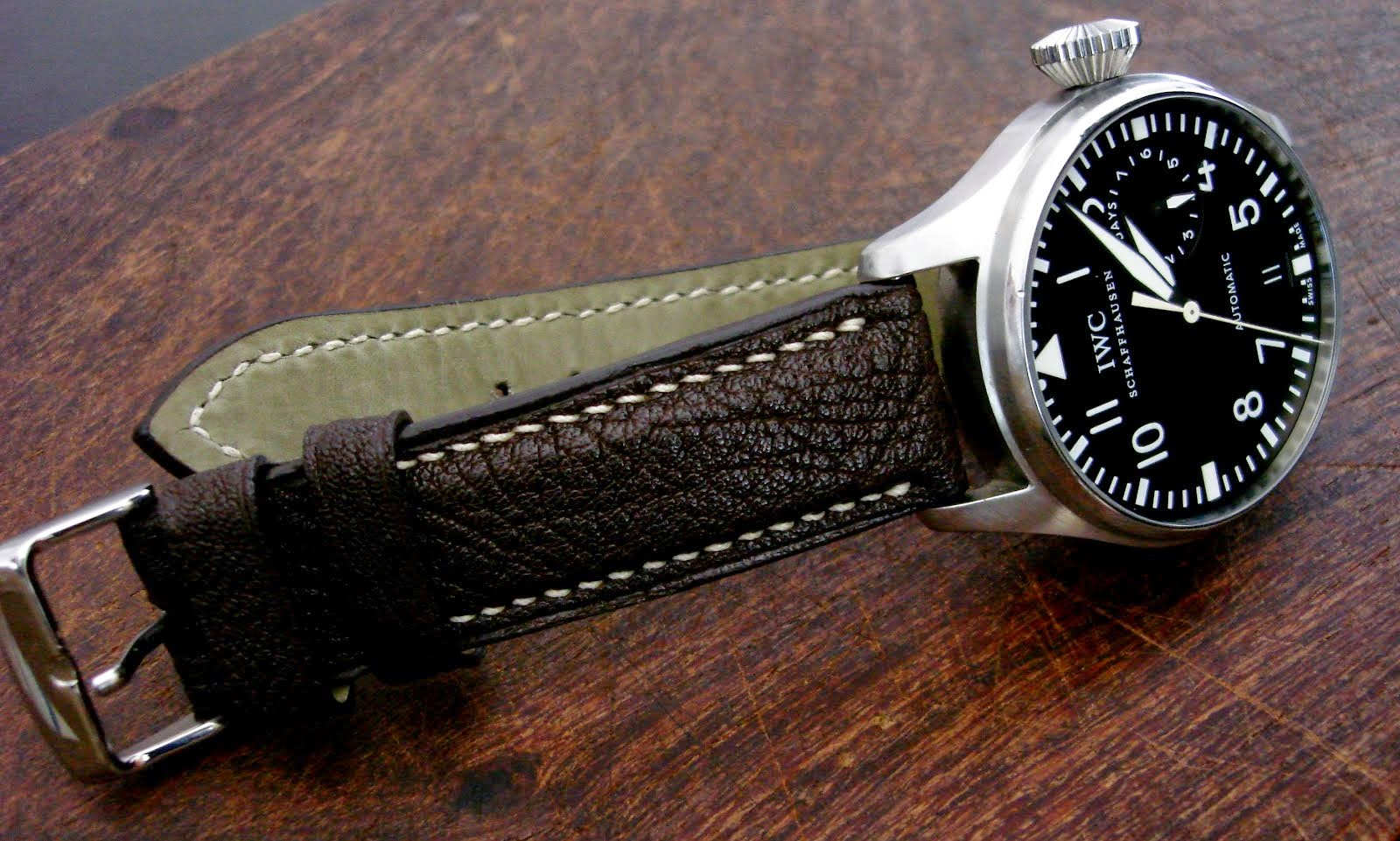 Ingo's IWC Big Pilot on Jurassic Chocolate African Goat