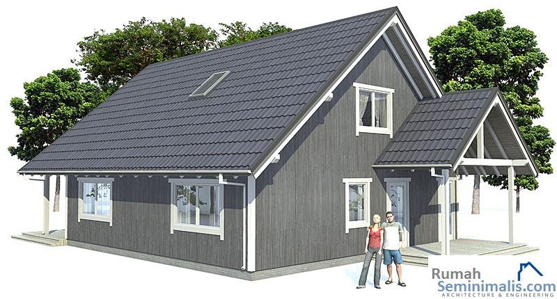 Denah Model Desain Gambar Rumah Minimalis Idaman Sederhana Tipe 45