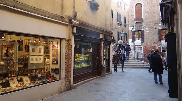Principais ruas para compras em Veneza