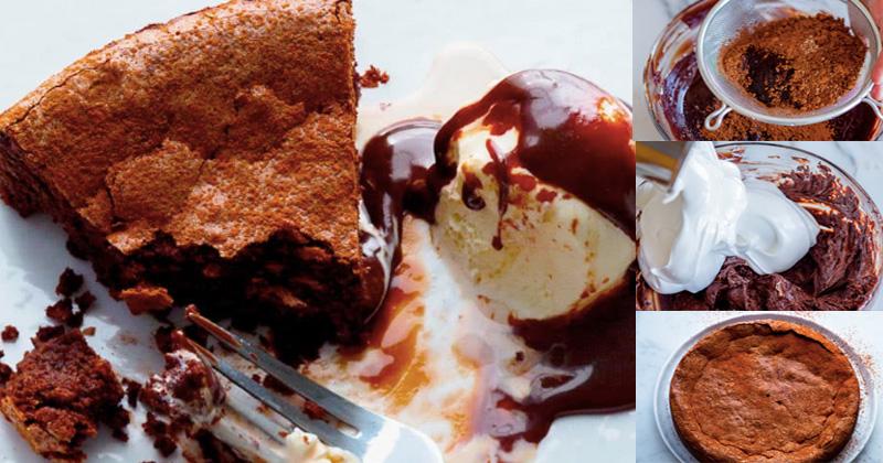สูตรฟอรเรสต์เค้กช็อกโกแลต (Flourless Chocolate Cake)